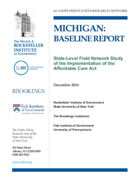 Michigan: Baseline Report - State Level Field Network Study of the Implementation of the Affordable Care Act