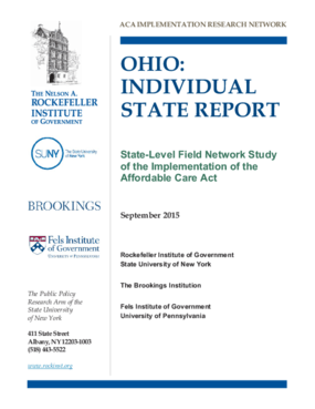 Ohio: Individual State Report - State Level Field Network Study of the Implementation of the Affordable Care Act