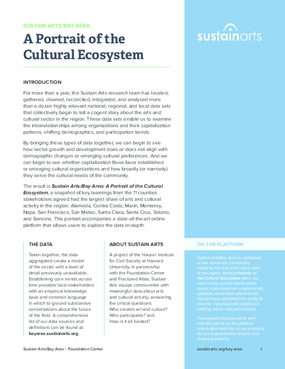 SustainArts/Bay Area: A Portrait of the Cultural Ecosystem 2015