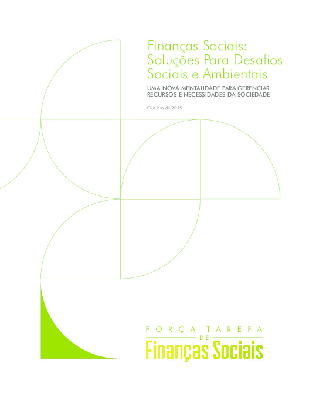Finanças Sociais: soluções para desafios sociais e ambientais