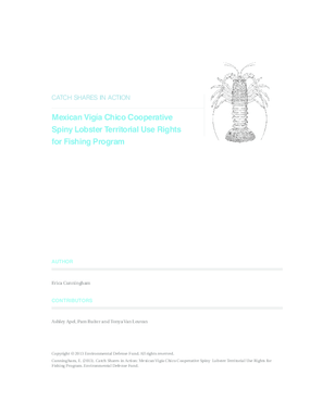 Catch Shares in Action: Mexican Vigía Chico Cooperative Spiny Lobster Territorial Use Rights for Fishing Program