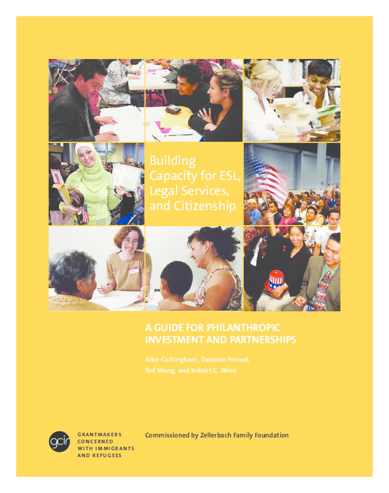GCIR Handbook - Building Capacity for ESL, Legal Services, and Citizenship