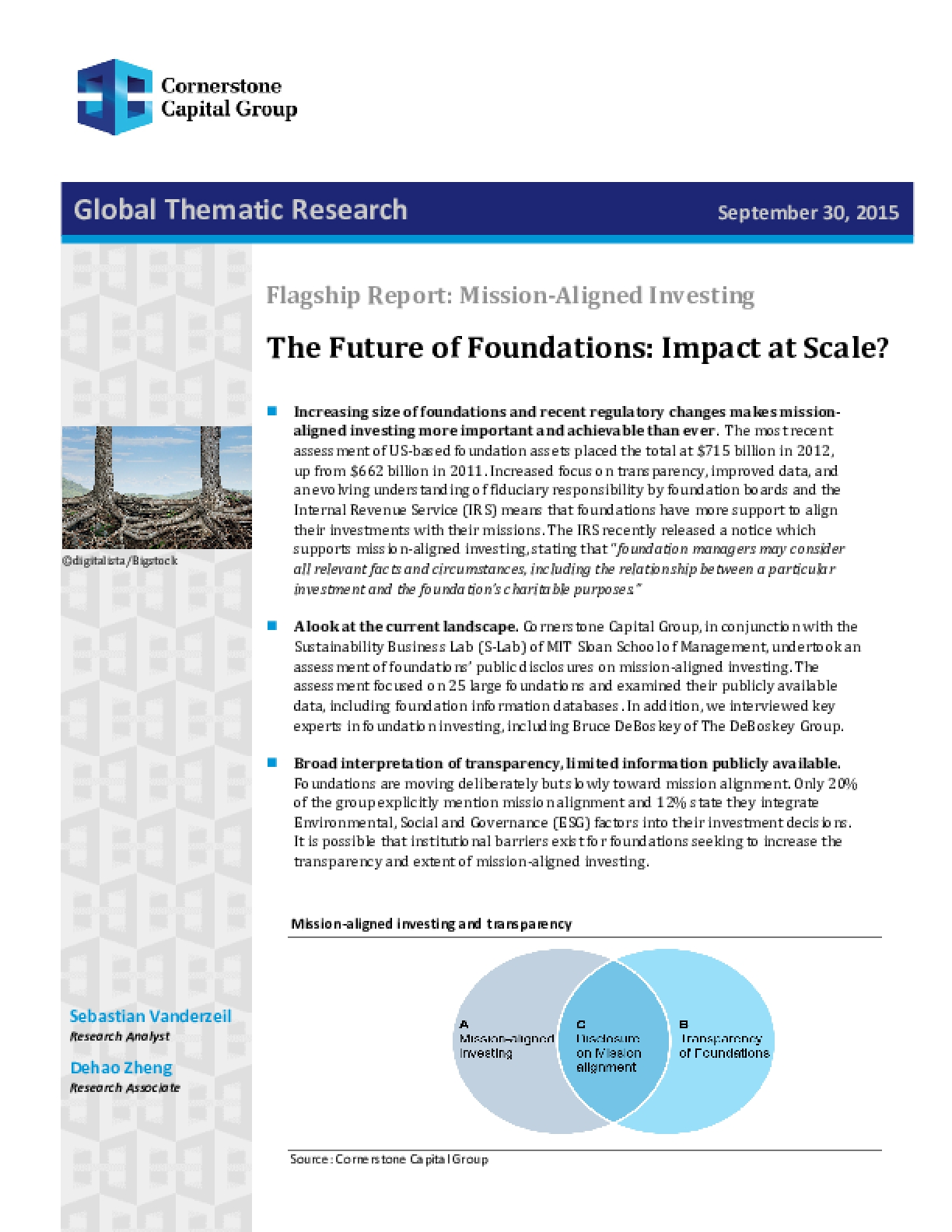 Flagship Report: Mission-Aligned Investing - The Future of Foundations: Impact at Scale?