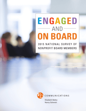 Engaged and On Board: 2015 National Survey of Nonprofit Board Members