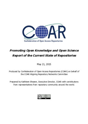 Promoting Open Knowledge and Open Science: Report of the Current State of Repositories