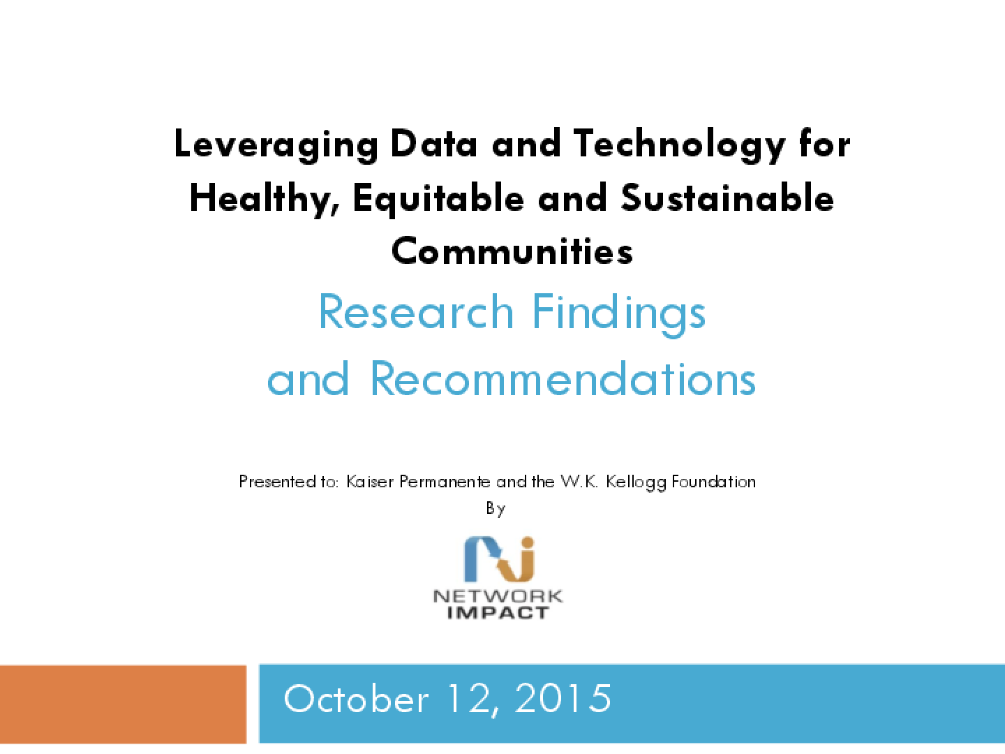 Leveraging Data And Technology For Healthy, Equitable, Sustainable Communities
