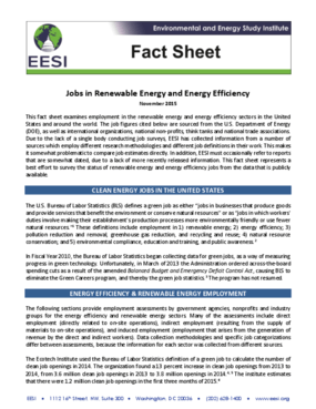 Fact Sheet: Jobs in Renewable Energy and Energy Efficiency (2015)