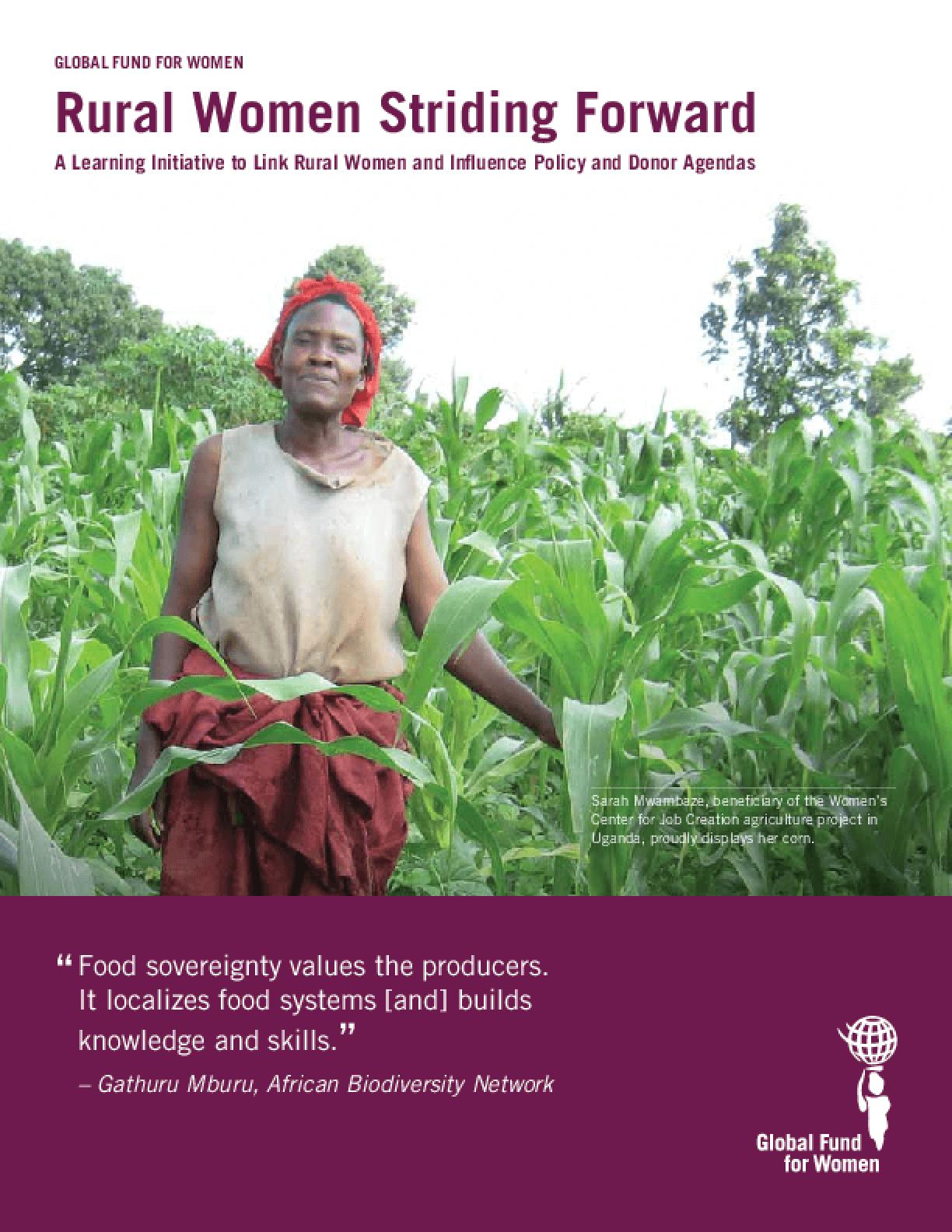Rural Women Striding Forward