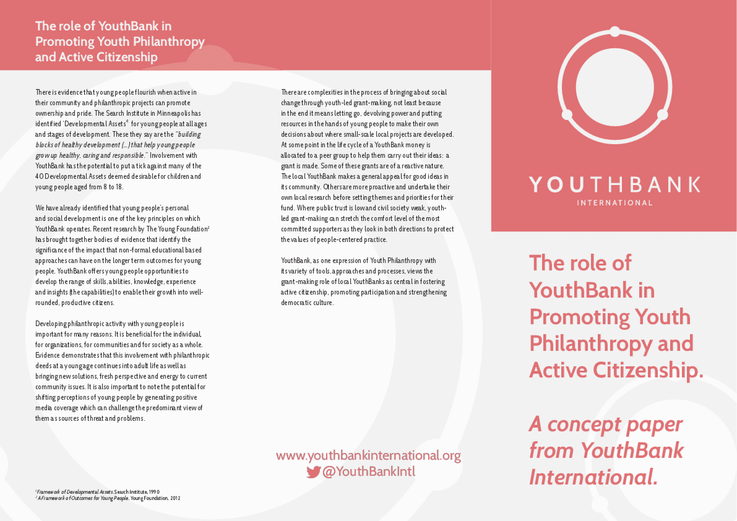 The Role of YouthBank in Promoting Youth Philanthropy and Active Citizenship