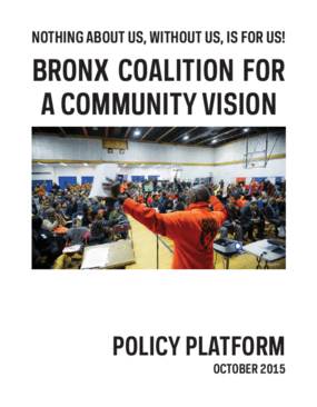 Nothing About Us, Without Us, is for Us! Bronx Coalition for a Community Vision