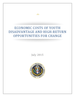 Economic Costs of Youth Disadvantage and High-Return Opportunities for Change