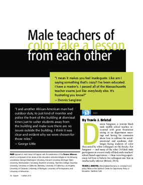 Male Teachers of Color Take a Lesson From Each Other