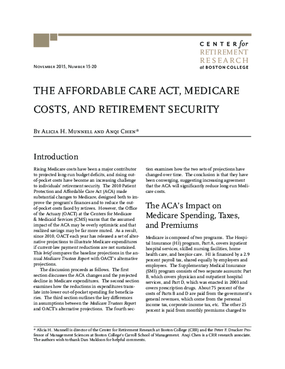 The Affordable Care Act, Medicare Costs, and Retirement Security