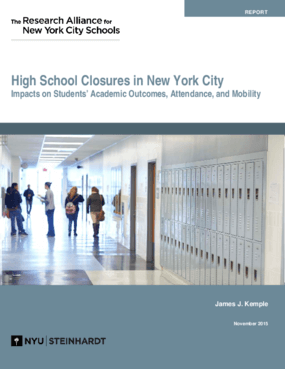 High School Closures in New York City: Impacts on Students' Academic Outcomes, Attendance, and Mobility