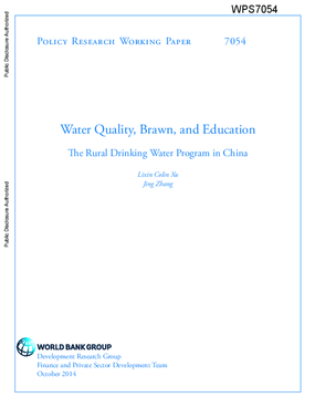 Water Quality, Brawn, and Education: The Rural Drinking Water Program in China