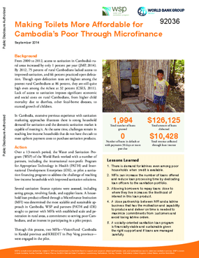 Making Toilets More Affordable for Cambodia's Poor Through Microfinance