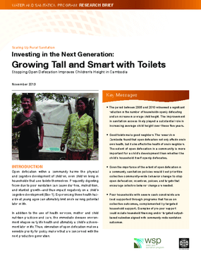 Investing in the Next Generation: Growing Tall and Smart With Toilets