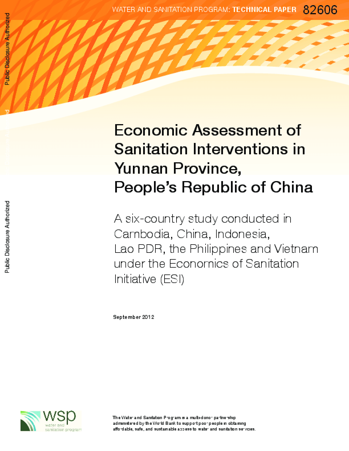 Economic Assessment of Sanitation Interventions in Yunnan Province, People's Republic of China