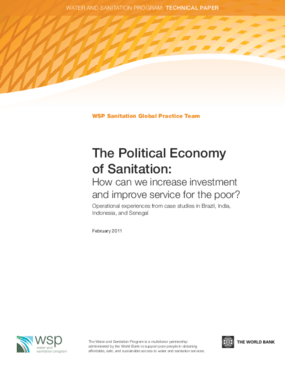 The Political Economy Of Sanitation: How Can We Increase Investment and Improve Service For The Poor?