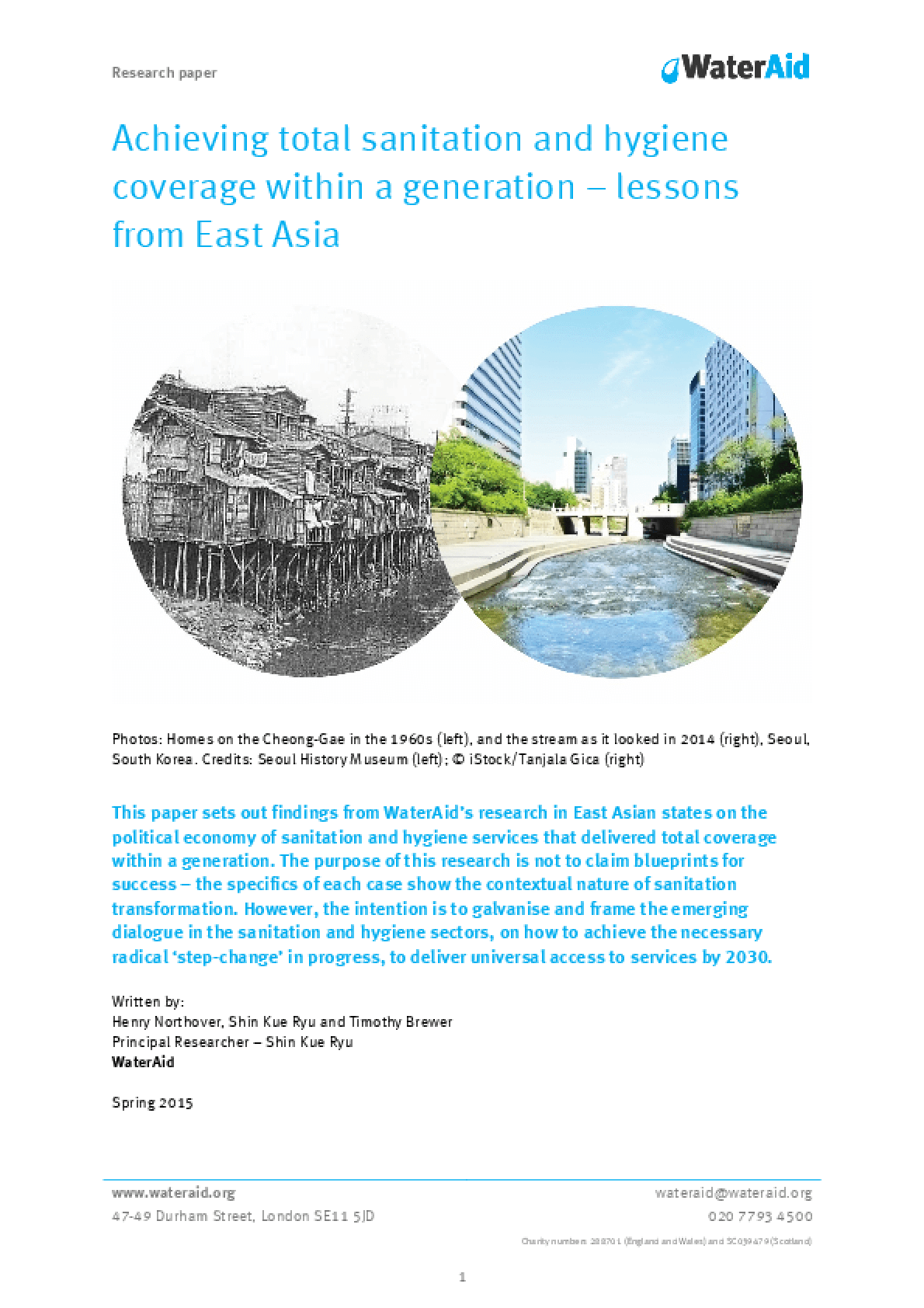 Achieving Total Sanitation and Hygiene Coverage Within a Generation -- Lessons From East Asia