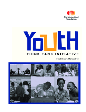 The MasterCard Foundation Youth Think Tank Report 2012