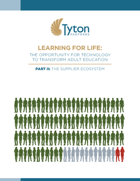 Learning For Life: The Opportunity For Technology To Transform Adult Education - Part II: The Supplier Ecosystem