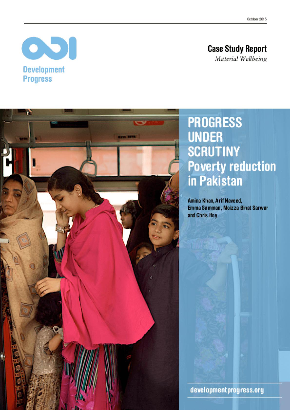 Progress Under Scrutiny: Poverty Reduction in Pakistan