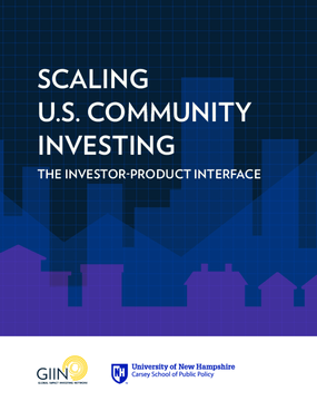 Scaling U.S. Community Investing: The Investor Product Interface