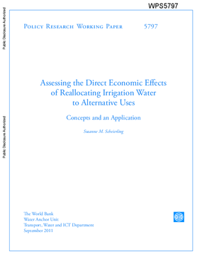 Assessing the Direct Economic Effects of Reallocating Irrigation Water to Alternative Uses: Concepts and an Application