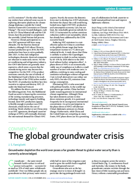 The Global Groundwater Crisis