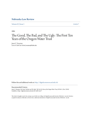The Good, the Bad, and the Ugly: The First Ten Years of the Oregon Water Trust