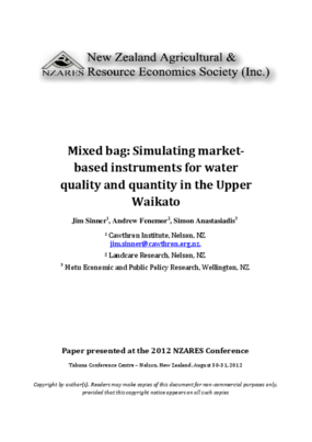 Mixed Bag: Simulating Market-Based Instruments for Water Quality and Quantity in the Upper Waikato