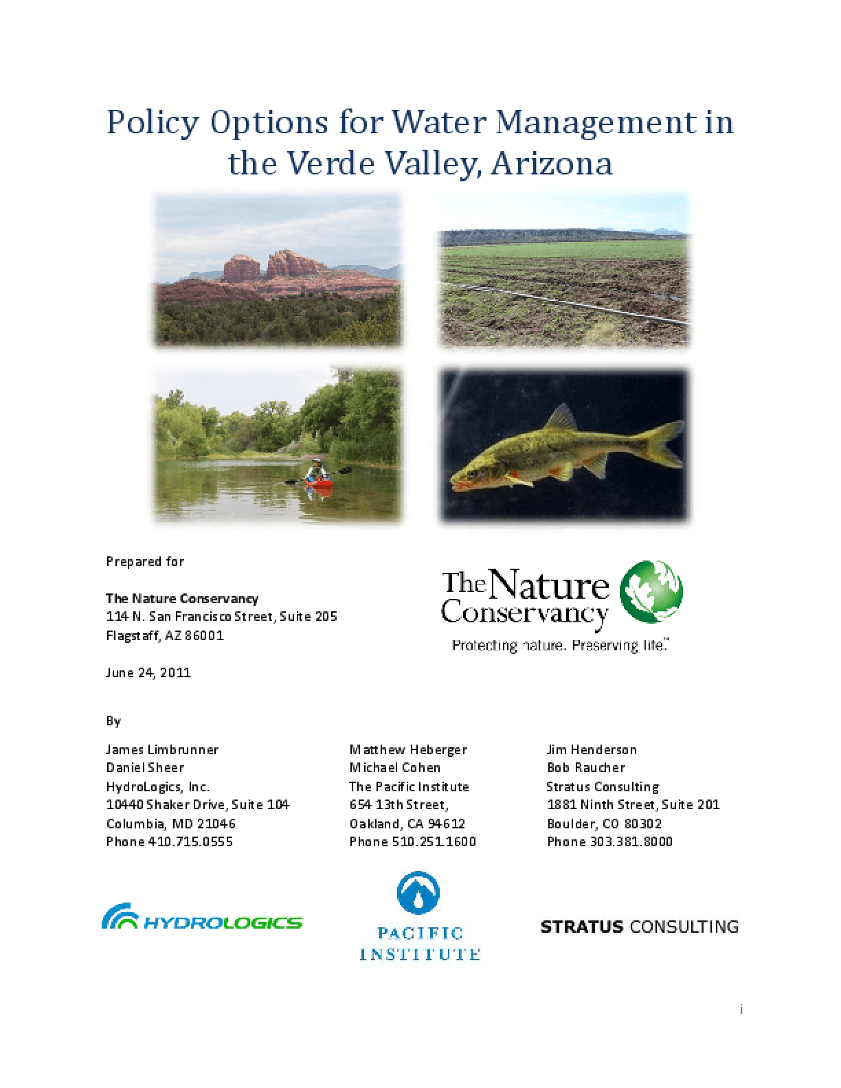 Policy Options for Water Management in the Verde Valley, Arizona (Executive Summary)