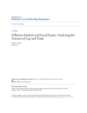 Pollution Markets and Social Equity: Analyzing the Fairness of Cap and Trade