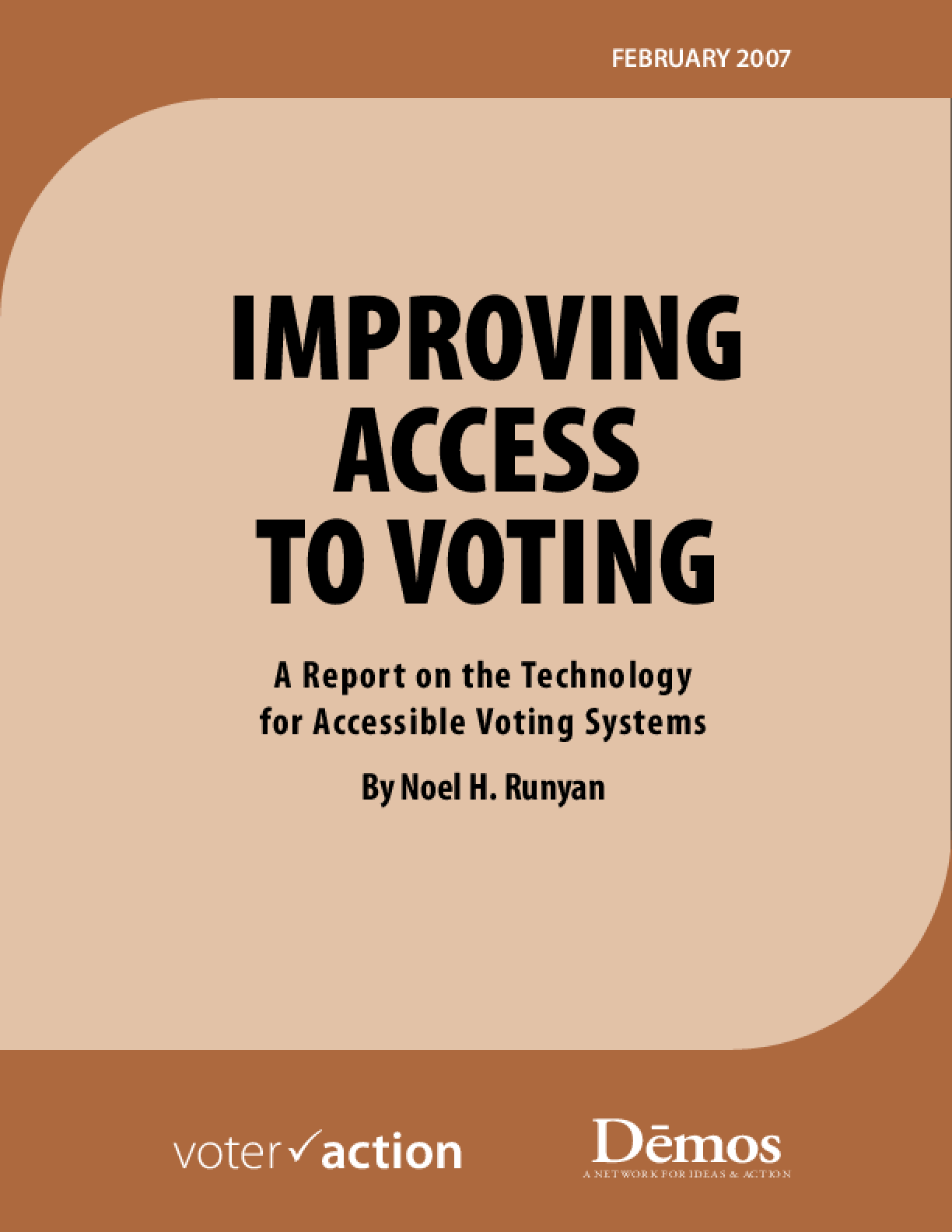 Improving Access to Voting: A Report on the Technology for Accessible Voting Systems