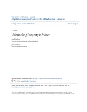 Unbundling Property in Water