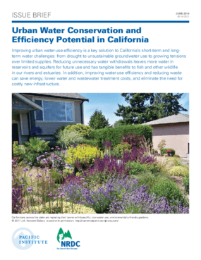 Urban Water Conservation and Efficiency Potential in California