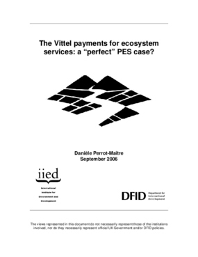 The Vittel Payments for Ecosystem Services: A Perfect PES Case?
