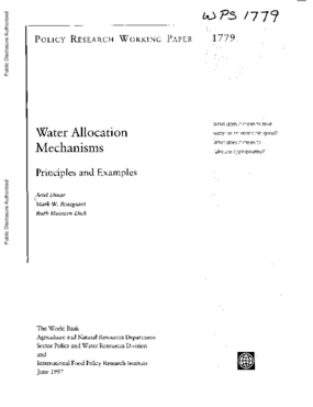 Water Allocation Mechanisms: Principles and Examples