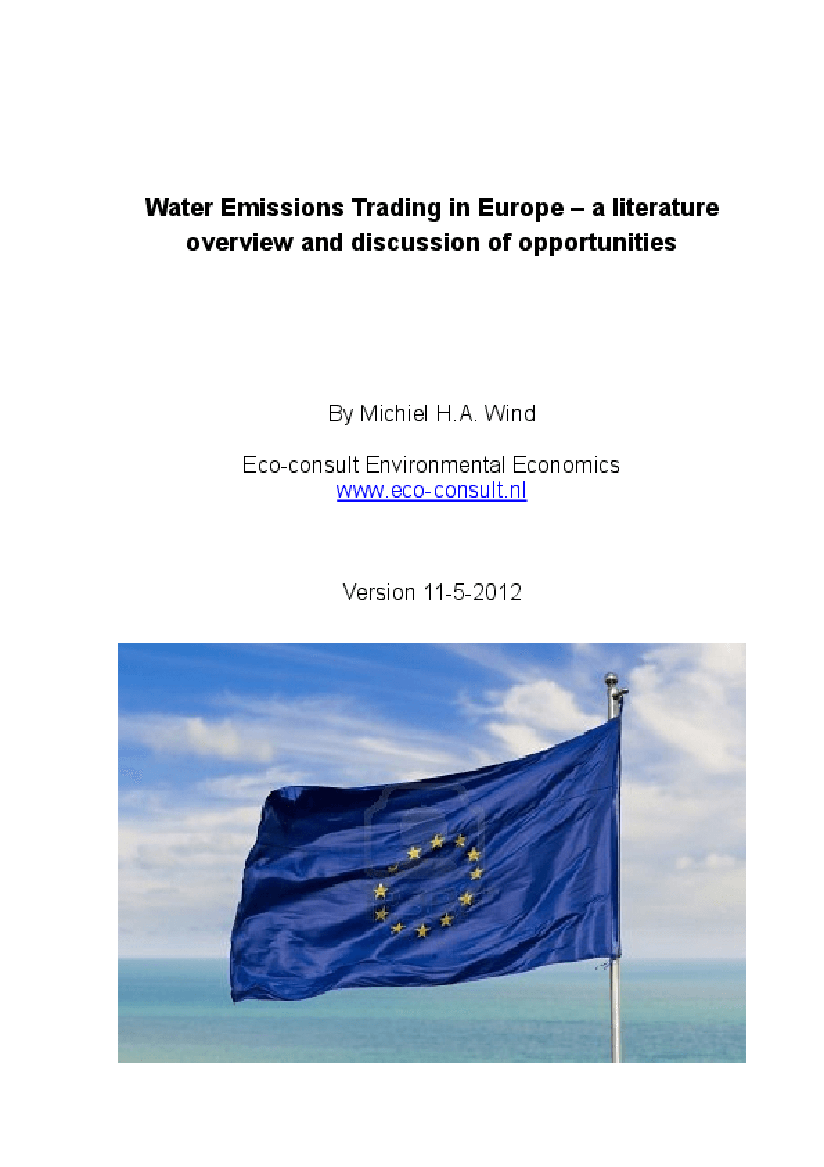 Water Emissions Trading in Europe: A Literature Overview and Discussion of Opportunities