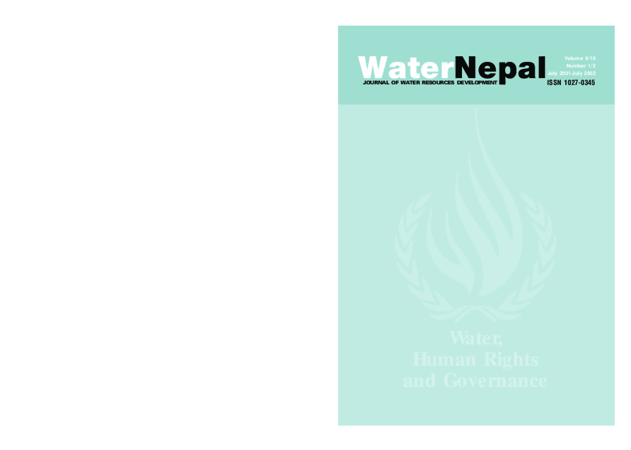 Water, Human Rights and Governance