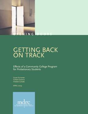 Getting Back on Track: Effects of a Community College Program for Probationary Students