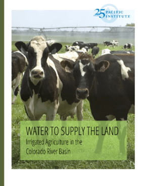 Water to Supply the Land: Irrigated Agriculture in the Colorado River Basin
