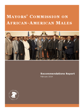 Mayor's Commission on African-American Males: Recommendations Report, February 2014