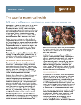 The Case for Menstrual Health