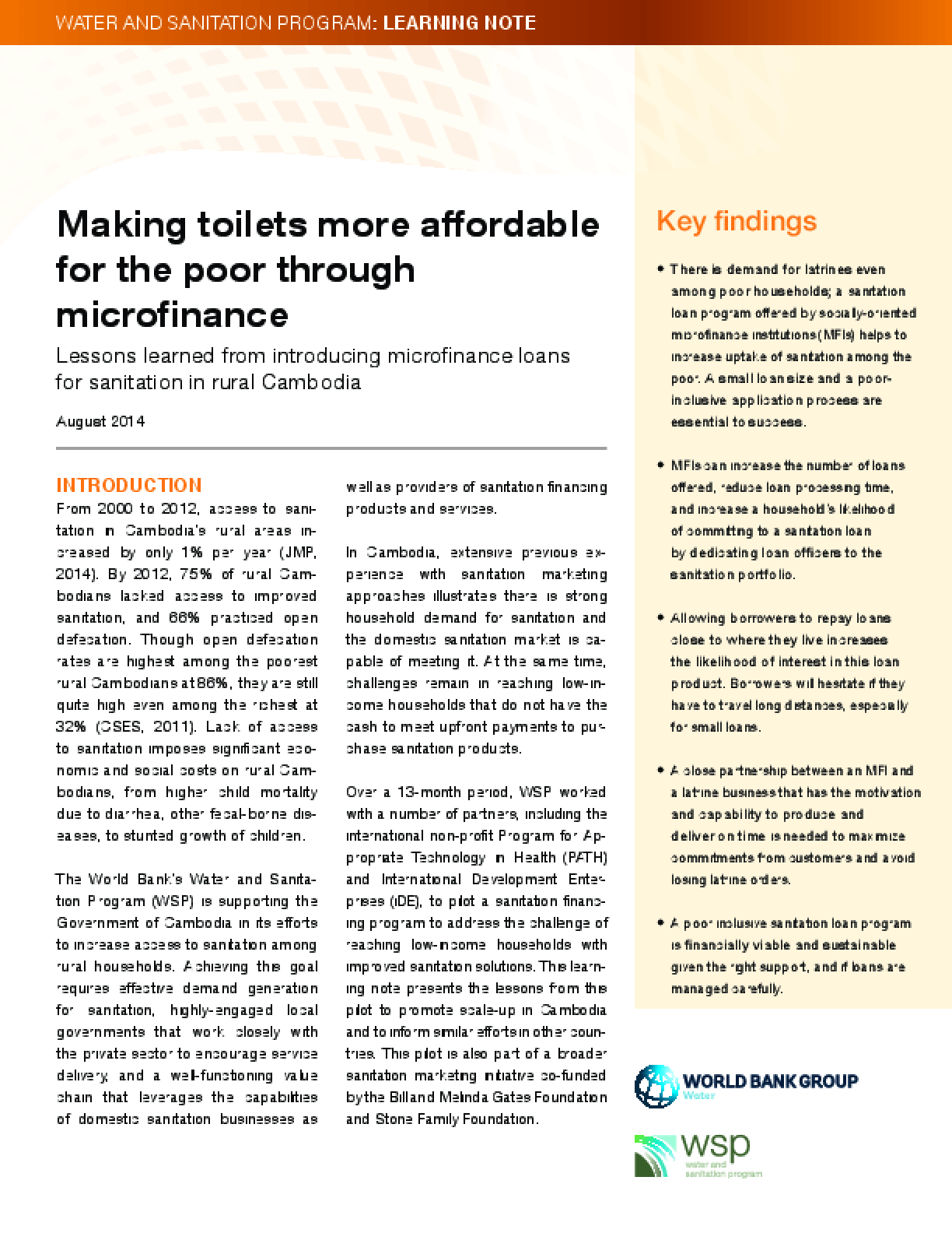 Making Toilets More Affordable for the Poor Through Microfinance