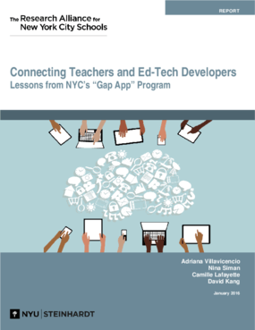 Connecting Teachers and Ed-Tech Developers: Lessons from NYC's Gap App Program