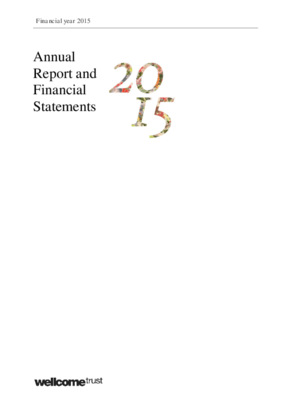 Wellcome Trust Annual Report and Financial Statements 2015