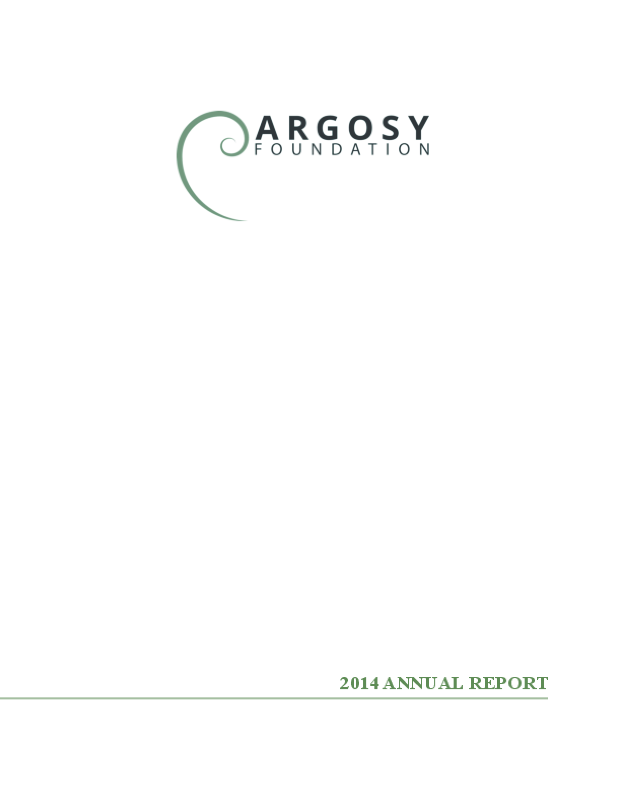Argosy Foundation 2014 Annual Report