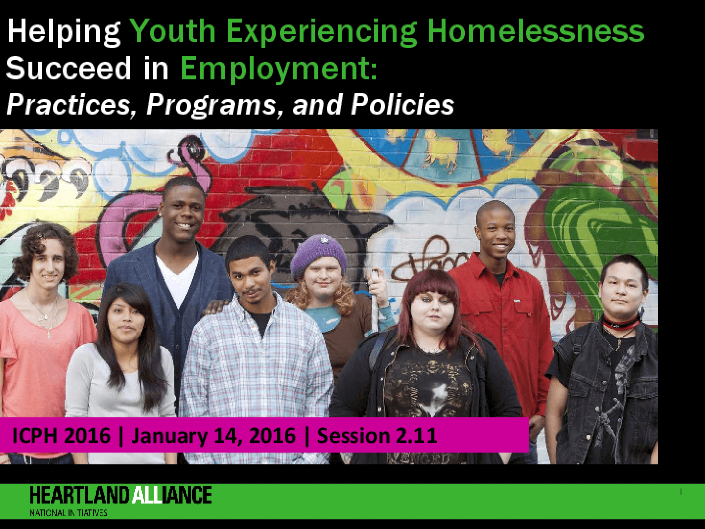 Helping Youth Experiencing Homelessness Succeed in Employment: Practices, Programs, and Policies